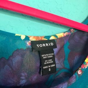 torrid Tops - Torrid Floral open back top (plus size)